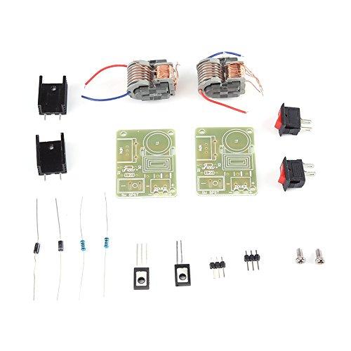 15KV Generador de alto voltaje Boost Step-up Módulo de alta potencia Inversor Módulo de bobina de encendido por arco Piezas desmontadas para uso de bricolaje (PAQUETE DE 2 JUEGOS)