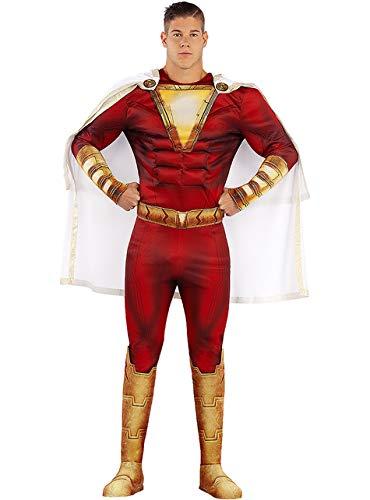 Funidelia | Shazam Kostüm OFFIZIELLE für Herren Größe XL  Superhelden, DC Comics