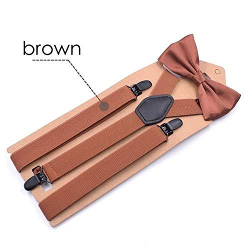 Koupany Adulto bretels en vlinderdas set zwart Bowtie bretels voor mannen vrouwen vlinderdas bretels voor hoge planken 110 cm