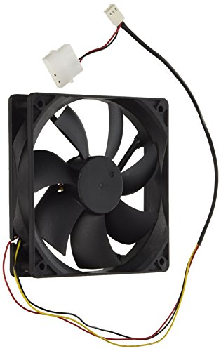 JEXON 120 mm 4.72 x 4.72 Inches Case Fan with 3-Pin Connector, Black (12025-BULK)