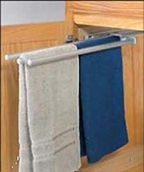 3 Bar Chrome Finish Pull-Out Extending Towel Rack
