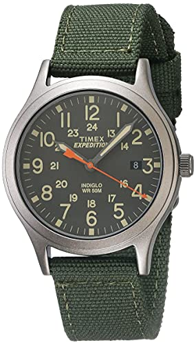 Timex Unisex TW4B13900 Expedition Scout 36mm Green/Black Nylon Strap Watch