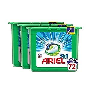 Ariel Allin1 PODS Frescor De Los Alpes Detergente En Cápsulas, 72 Lavados, Con Lavado A 30 °C Y Perfume Duradero