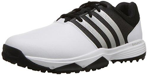 adidas Men's 360 Traxion WD Golf Shoe, FOOTWEAR WHITE/FOOTWEAR WHITE/CORE BLACK, 11 W US