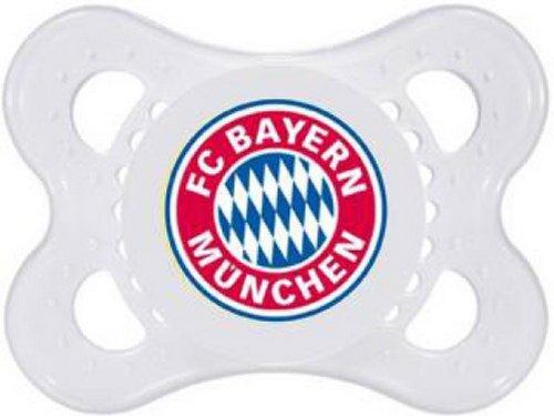 FCB FC Bayern München Schnuller Silikon 0-6 Monate, 1 Stück