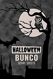 Halloween Bunco Score Sheets: 100 Scoring Pads for Bunco Players, Bunco Score Cards, Score Keeper Tracker Game Record Notebook, Gift Ideas for Bunco ... Dark Castle Background, Handy Size 6 x 9