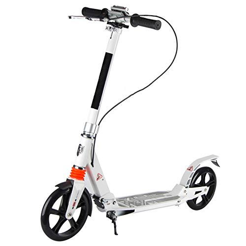 WYJJ Scooter para Adultos, absorción de Golpes Delanteros y Traseros, Scooter Iluminado para niños y niñas a Partir de 8 años, diseño Plegable