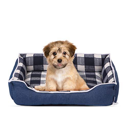 POPETPOP Hundebett - Hundekorb Waschbar Hundesofa Hundekissen Haustierbett mit Rutschfestem Boden und Abnehmbarem Bezug