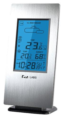 Labs LABS AL803 - Estación meteorológica para humedad y temperatura interior y temperatura exterior, color aluminio