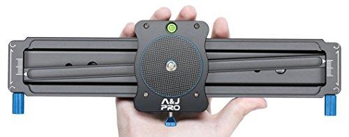 "A&J Camera Slider 11"" Mini Video Track Slider with Panoramic Shot Camera Slider Dolly for DSLR Camera, Smart Phone and Gopro"