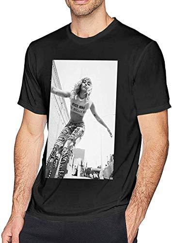 MaryAPerez Miley Cyrus Men's Short-Sleeved Cotton Classic Tshirt Black,6X-Large