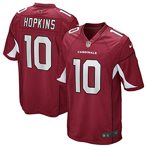 Nike Deandre Hopkins Arizona Cardinals NFL Boys Youth 8-20 Red Home On-Field Game Day Jersey (Youth Medium 10-12)