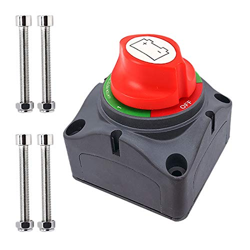 Ampper 1-2-Both-Off Battery Disconnect Switch, 12-48 V Battery...