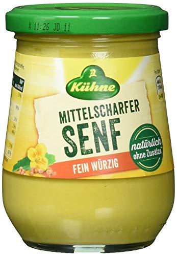 Kühne Senf mittelscharf - cremig würzig, 10er Pack (10 x 250 ml)