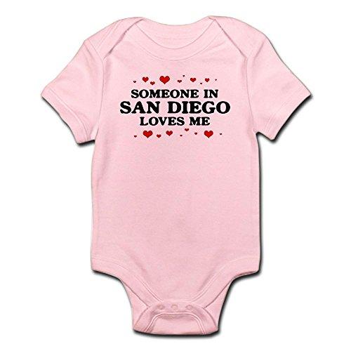 CafePress Loves Me in San Diego Infant Bodysuit Cute Infant Bodysuit Baby Romper Petal Pink