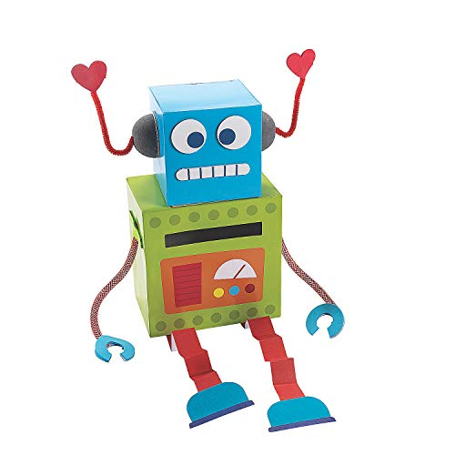 Robot Valentine Card Box - Crafts for Kids and Fun Home Activities