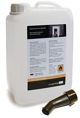muenkel design Gala Ethanol - 96,6% iges Bioethanol in 5 Liter Kanistern: 480 Liter
