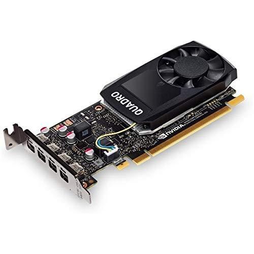 HP 1370046632 Tarjeta gráfica - NVIDIA Quadro P1000 Kit de 4 GB con 2 ADP, negro (reacondicionado)