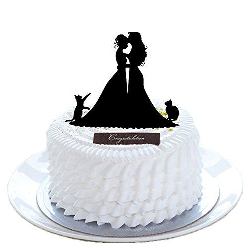 FishMM Decoración de acrílico para tartas de boda, homosexualidad, lesbianas, gay, decoración para tartas de aniversario, suministros para novios y novios, novia y novios