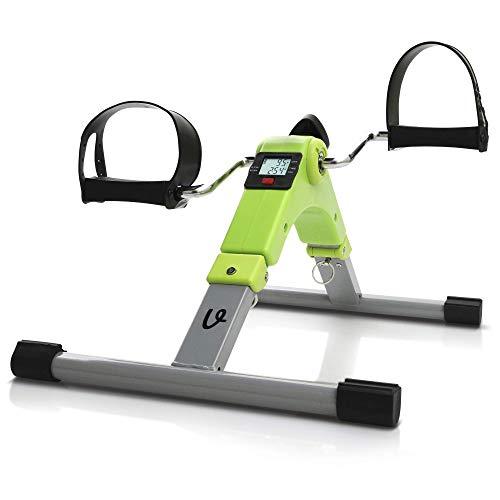 Velo Under Desk Bike Pedal Exerciser, A Mini Exercise Bike/Foot Pedal Exerciser for Indoor Exercises. A Stationary Elliptical Bike That's Pre-Assembled, Foldable with a Digital Display