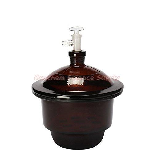 Deschem 180mm,Amber Glass Vacuum Desiccator Jar,7