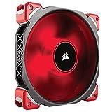 Corsair ML140 Pro LED PC-Gehäuselüfter (140 mm, mit Premium Magnetschwebetechnik, Rot LED, Single Pack)