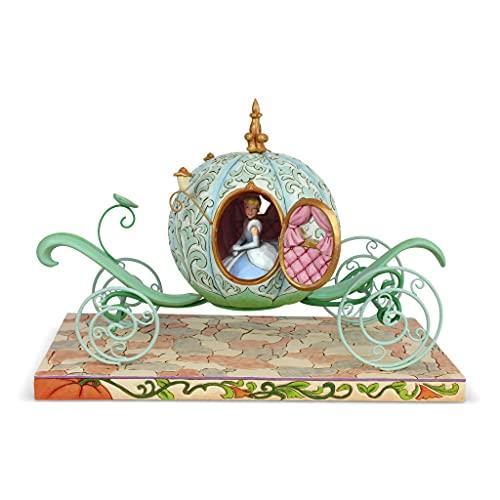 Enesco Disney Traditions by Jim Shore Cinderella in Pumpkin Coach Lit Figurine, 11.5 Inch, Multicolor