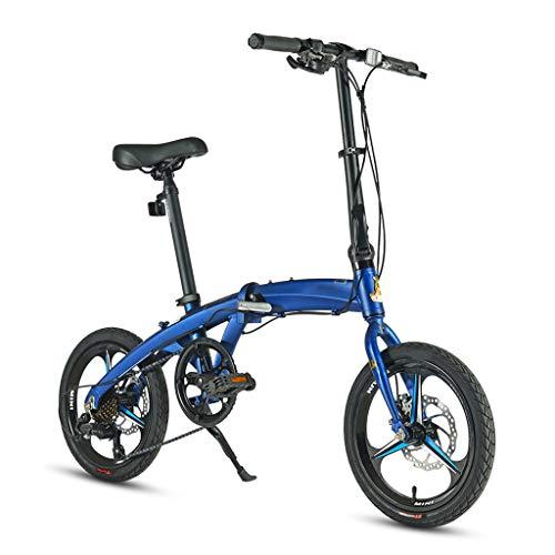 TYXTYX Klapprad 16 Zoll Fahrrad Faltrad Metropolis Campingrad Citybike, 7Gang Kettenschaltung,leichtes Mini-Kompaktfahrrad, Männer und Frauen