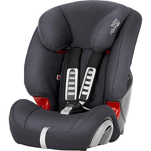 BRITAX RÖMER Siège Auto EVOLVA 1-2-3, Évolutif et Confortable, enfant de 9 à 36 kg (Groupe 1/2/3) de 9 mois à 12 ans, Storm Grey