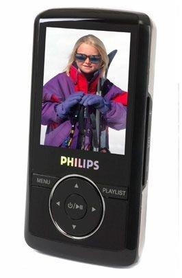 Philips SA 3125 / 02 MP3-/Video-Player 2 GB schwarz/silber