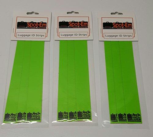 Spot-Em Luggage Identification Strips (Three Units Green)