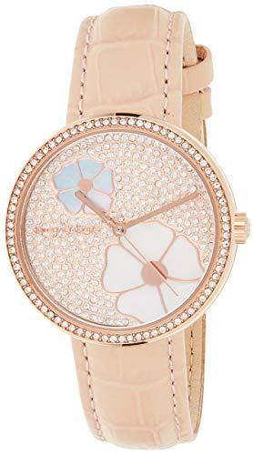 Michael Kors Damen Analog Quarz Uhr mit Leder Armband MK2718