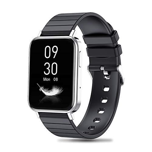 QFSLR Smartwatch, Pantalla Táctil Grande De 1,65 Pulgadas, IP67 A Prueba De Agua, con Función De Monitorización De La Presión Arterial del Sueño del Ritmo Cardíaco, Adecuado para iOS Android,Plata