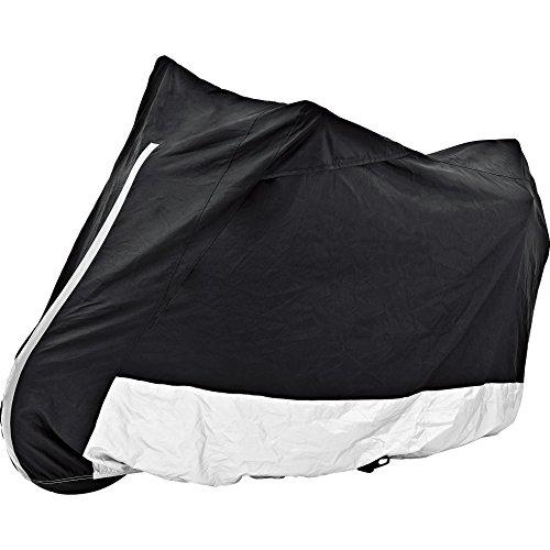 Polo Motorradabdeckung Motorradplane Motorradgarage Outdoor Abdeckplane m. Fenster schwarz/Silber Größe XXL, Unisex, Multipurpose, Ganzjährig