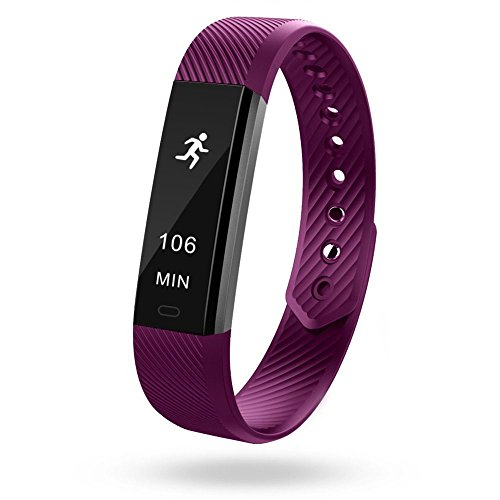 Semaco Fitness Tracker, Smart Activity Wristband with Pedometer Calorie Tracking Sleep Monitoring Sports Bracelet for Kids Women Men (Purple)