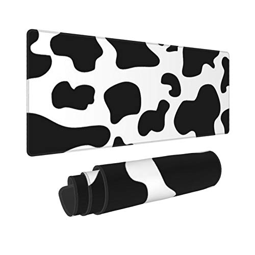 Cow Print Large Mouse Pad 31.5 X 11.8in Long Extended Non Slip Rubber Multipurpose Work Game Office