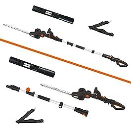 DELTAFOX Taille-haie électrique combiné 2 en 1 – Taille-haie télescopique et taille-haie électrique pratique en un…