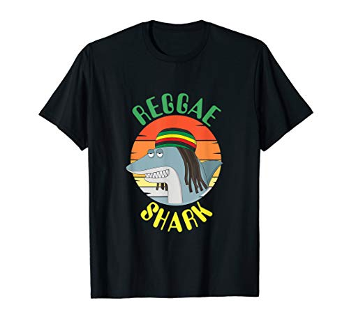 Reggae Shark Dreadlock Rasta T-Shirt