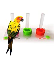JannahMehr Bird Toys,Bright Color Parrot Bird Ring Separate Training Intelligence Development Pet Toy for Parrots,Parakeets,Macaws,Cockatiels,Lovely Birds - Multicolor