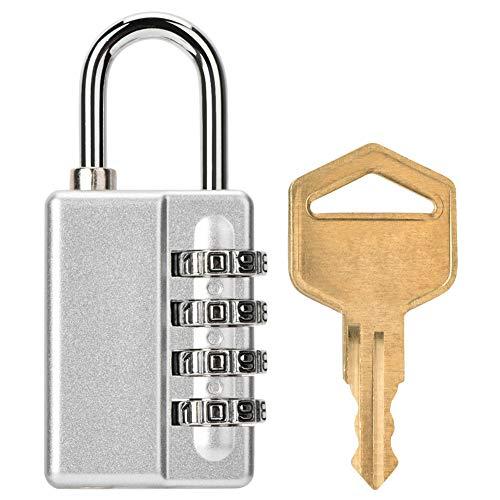 Tosuny cijfercode, 4-cijferige wachtwoordblokkering, bagagesloten, hangslot cijferslot voor koffer, rugzak, school, gym & sports locker.