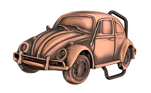 VW Volkswagen Beetle Antique Copper Finish Solid Brass Belt Buckle - http://coolthings.us