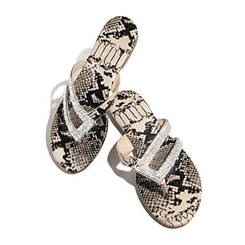 Yusea Sandals for Women Dressy Rhinestone Comfy Platform Casual Shoes Summer Beach Travel Chanclas