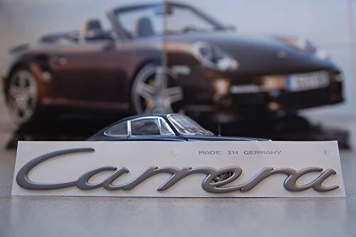 Producto nuevo. Porsche 911 997'Carrera' - Letra/logo lacado de titanio