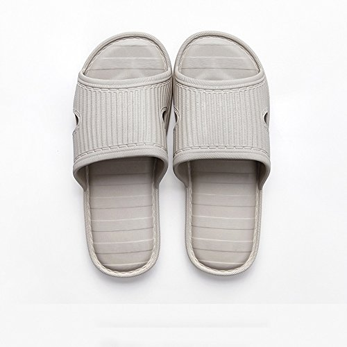 Confortable Chaussons de Lin Maison à la Maison Maison mâle à l'été des Chaussons à Fond Doux à la Maison Sol antidérapant Plancher d'automne Pantoufles en Coton Lin (4 Couleurs en Option)