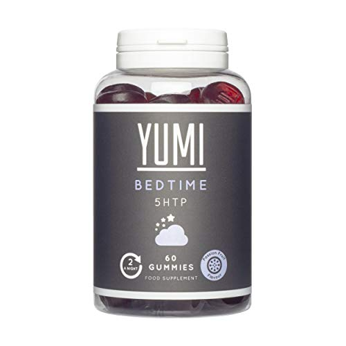 Yumi Bedtime Gummies x 60 | 5HTP 100mg | Griffonia Extract | Maintain Wellbeing | Vegan | Gluten-Free | Chewable Sleep Supplement | Passion Fruit Flavour |