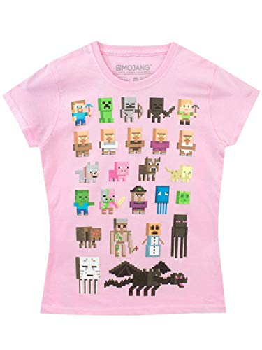 Minecraft Mädchen T-Shirt Rosa 140
