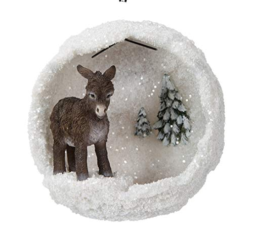 Hanging Brown Donkey Snowball Home or Garden Decoration (BG-HS28-F)