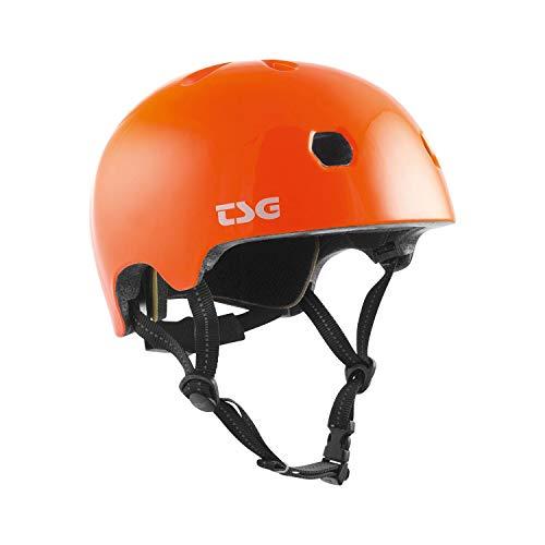 TSG Meta Solid Color Helm Gloss orange Kopfumfang JXXS/JXS | 48-51cm 2021 Fahrradhelm