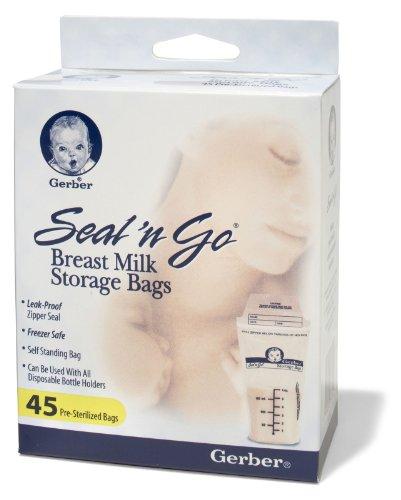NUK Seal `n Go Breast Milk Storage Bags & Disposable Bottle Liners 45 ea