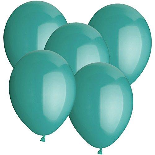 Doriantrade Luftballons türkis 50 Stück, Helium Ballons, Ø 30cm, 100% Naturlatex, Luftballon, biologisch abbaubar